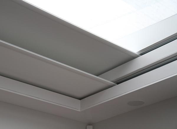 Closeup of dual blinds blindspace